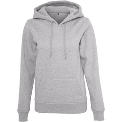 textil Dam Sweatshirts Build Your Brand BY026 Grått
