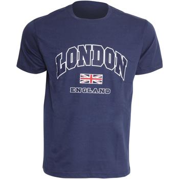 textil Herr T-shirts England  Marinblått