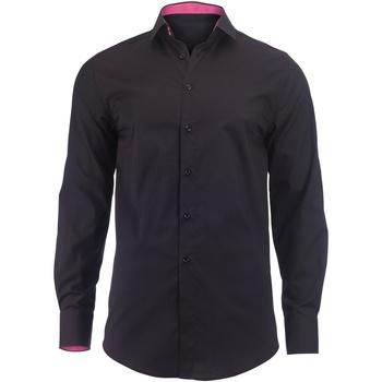 textil Herr Långärmade skjortor Alexandra Hospitality Svart/rosa