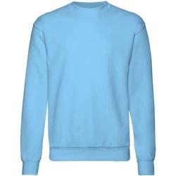 textil Barn Sweatshirts Fruit Of The Loom  Himmelblått