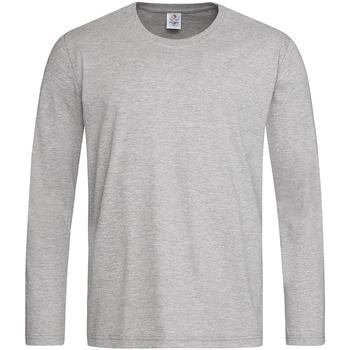 textil Herr Långärmade T-shirts Stedman  Grått