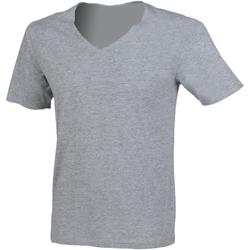 textil Herr T-shirts Sf SF223 Grått
