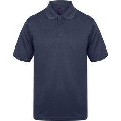 textil Herr Kortärmade pikétröjor Henbury HB475 Marinblått