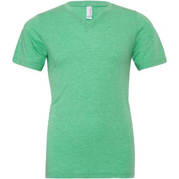 textil Herr T-shirts Bella + Canvas CA3415 Grön triblend