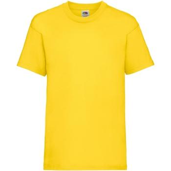 textil Barn T-shirts Fruit Of The Loom 61033 Gul
