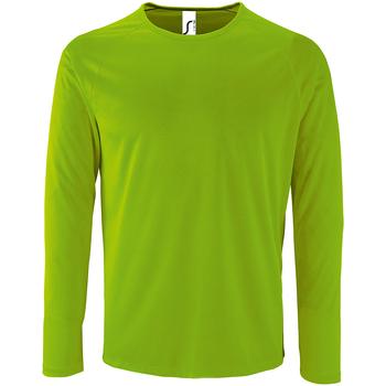 textil Herr Långärmade T-shirts Sols 2071 Neongrön