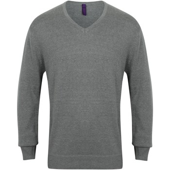 textil Herr Sweatshirts Henbury 12 Gauge Slate Grey Marl