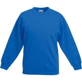 textil Barn Sweatshirts Fruit Of The Loom 62031 Kunglig blå