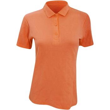 textil Dam Kortärmade pikétröjor Anvil 6280L Mandarin apelsin