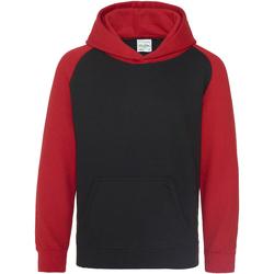 textil Barn Sweatshirts Awdis JH09J Jet Black/ Fire Red