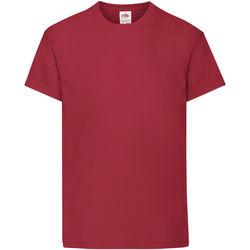 textil Barn T-shirts Fruit Of The Loom 61019 Tegelröd