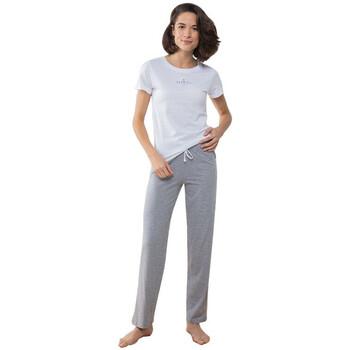 textil Dam Pyjamas/nattlinne Towel City TC053 Vit/vit/grått
