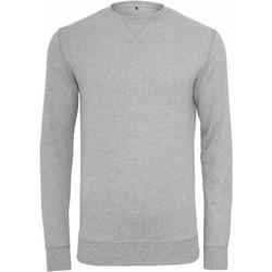 textil Herr Sweatshirts Build Your Brand BY010 Grått