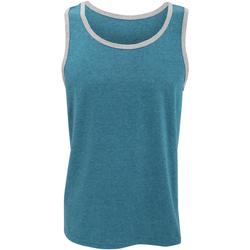 textil Herr Linnen / Ärmlösa T-shirts Anvil 986 Karibisk blått/ grått