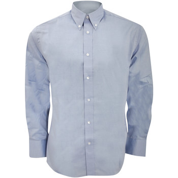 textil Herr Långärmade skjortor Kustom Kit KK188 Ljusblå
