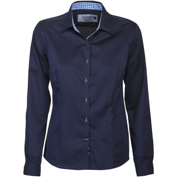 textil Dam Skjortor / Blusar J Harvest & Frost JF006 Marinblått/himmelblått
