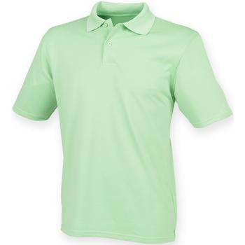 textil Herr Kortärmade pikétröjor Henbury HB475 Lime Green