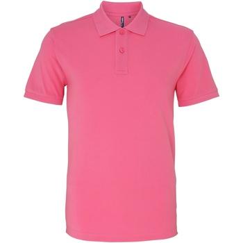 textil Herr Kortärmade pikétröjor Asquith & Fox AQ010 Rosa nejlika