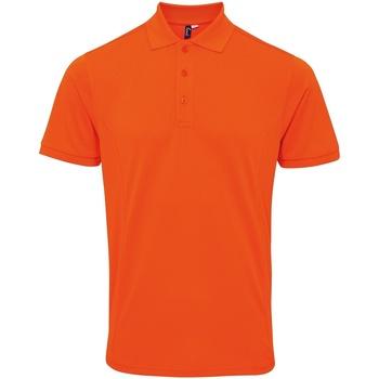textil Herr Kortärmade pikétröjor Premier PR630 Orange