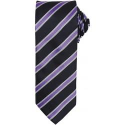 textil Herr Slipsar och accessoarer Premier PR783 Svart/Rich Violet