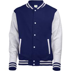 textil Barn Vindjackor Awdis JH43J Oxford marinblått/lädergrått