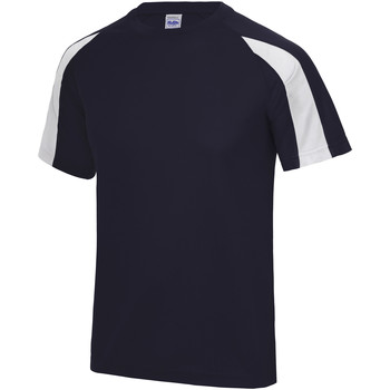 textil Herr T-shirts Just Cool JC003 Marinblått/Arktic White