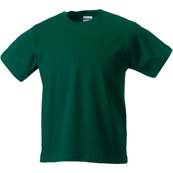 textil Barn T-shirts Jerzees Schoolgear ZT180B Flaskegrön