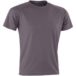 textil T-shirts Spiro Aircool Grått