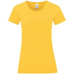 textil Dam T-shirts Fruit Of The Loom 61432 Solros gul
