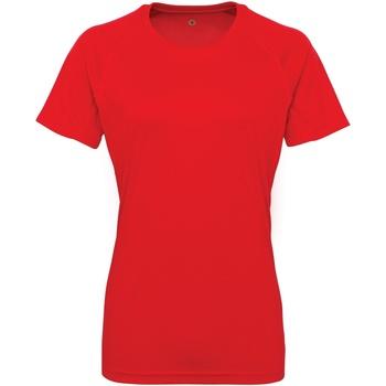 textil Dam T-shirts Tridri Panelled Eldröd