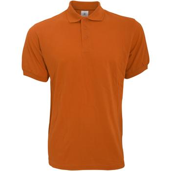 textil Herr Kortärmade pikétröjor B And C PU409 Pumpkin Orange