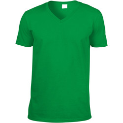 textil Herr T-shirts Gildan 64V00 Irländsk grön