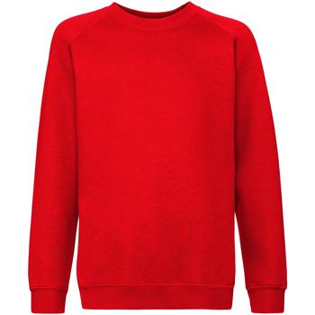 textil Barn Sweatshirts Fruit Of The Loom 62033 Röd