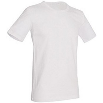textil Herr T-shirts Stedman Stars Morgan Vit