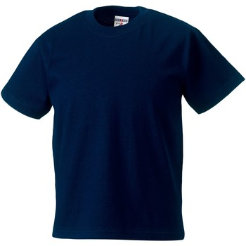 textil Barn T-shirts Jerzees Schoolgear ZT180B Franska flottan