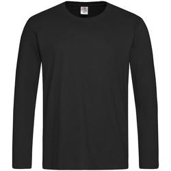 textil Herr Långärmade T-shirts Stedman  Svart opal