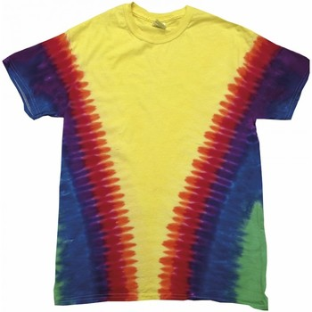 textil Barn T-shirts Colortone TD05B Rainbow Vee