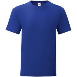 textil Herr T-shirts Fruit Of The Loom 61430 Koboltblått