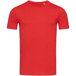 textil Herr T-shirts Stedman Stars Morgan Crimson Red