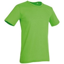 textil Herr T-shirts Stedman Stars Morgan Grön blixt