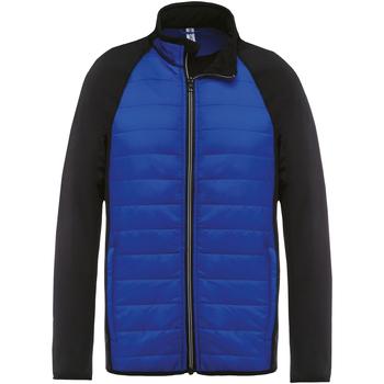 textil Herr Sweatjackets Kariban Proact PA233 Mörk kunglig/ svart