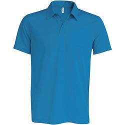 textil Herr Kortärmade pikétröjor Kariban Proact PA482 Aqua Blue