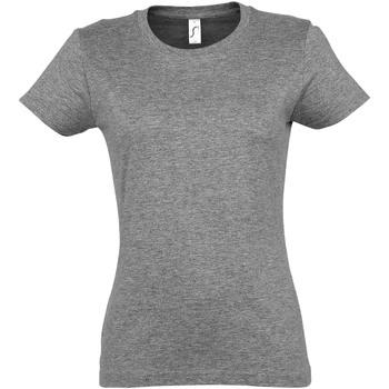textil Dam T-shirts Sols 11502 Grå marl