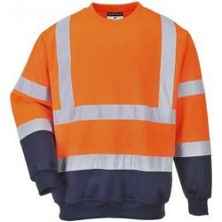 textil Herr Sweatshirts Portwest PW668 Orange/Navy