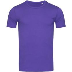 textil Herr T-shirts Stedman Stars Morgan Djupt lila