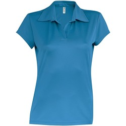 textil Dam Kortärmade pikétröjor Kariban Proact PA483 Aqua Blue