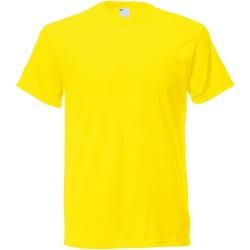 textil Herr T-shirts Universal Textiles 61082 Ljusgult