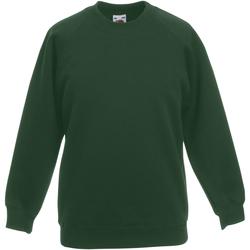 textil Barn Sweatshirts Fruit Of The Loom 62039 Flaskegrön