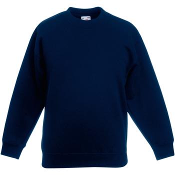 textil Barn Sweatshirts Fruit Of The Loom 62031 Djupt marinblått