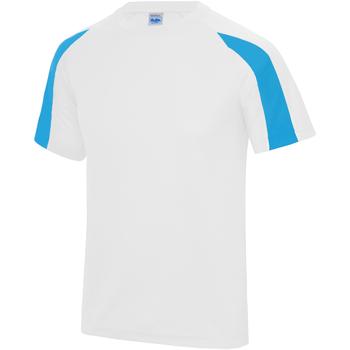 textil Herr T-shirts Just Cool JC003 Arctic White/Sapphire Blue